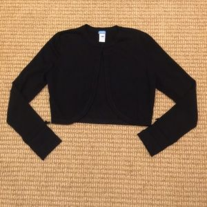 U-KNIT Black Long Sleeve Cardigan Medium